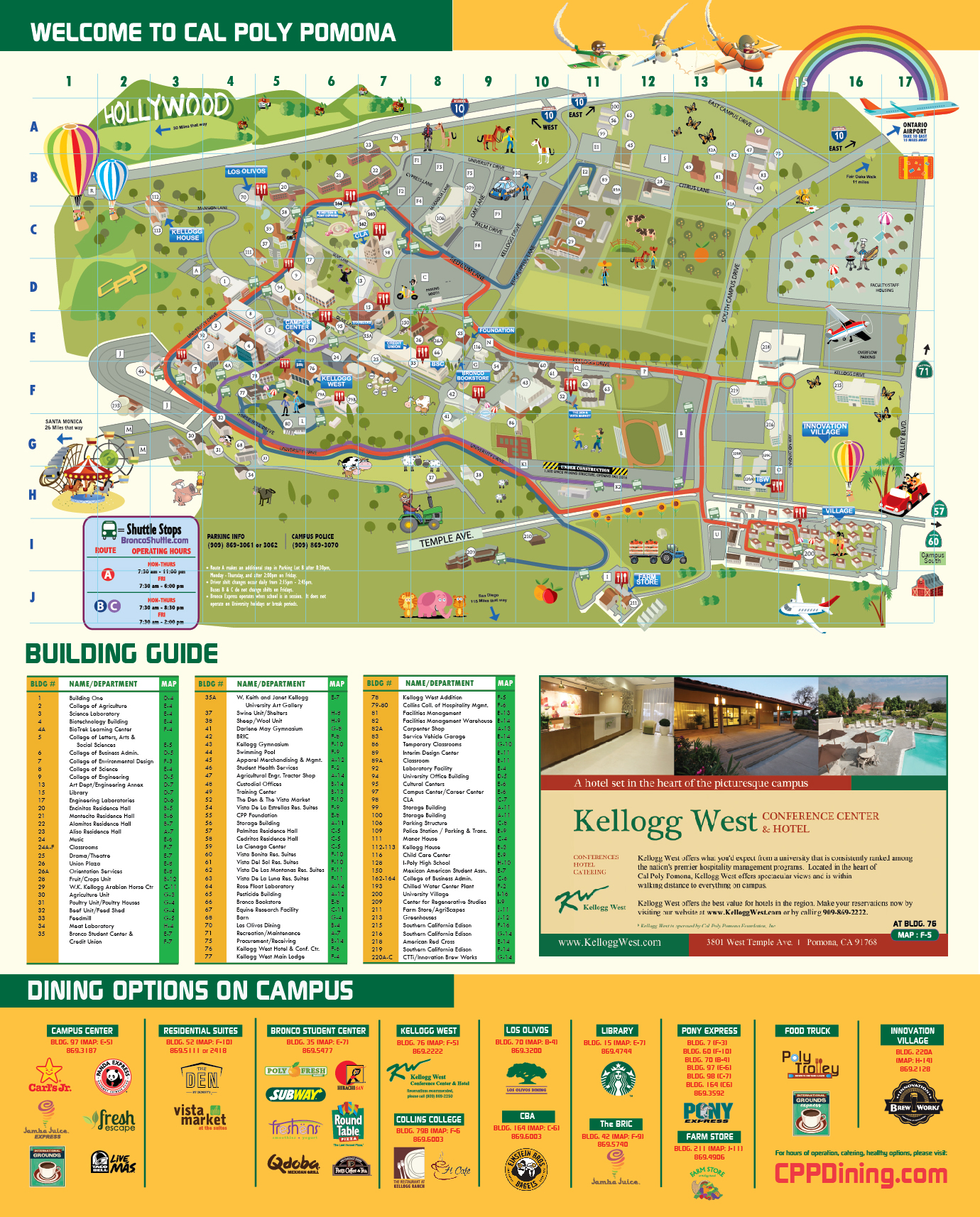 Cpp Campus Map Cal Poly Pomona Foundation, Inc.   Foundation Directions